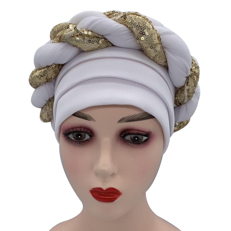 Sequins Turban Cap for Women  Headties 5