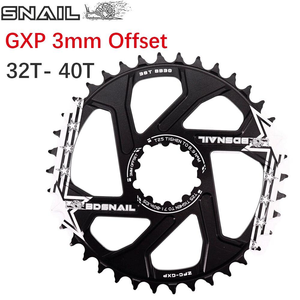 Chainring 32-40t 3mm Offset Fit Sram X9 X0 XX1 X01 Direct Mount Chainwheel Bike