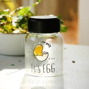 Image 3 - Dessin animé Gudetama paresseux jaune doeuf frère animaux imprimé Transparent verre étudiant unisexe tasse deau Portable bouteille tasse Figure jouet