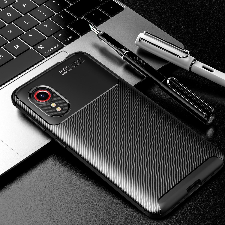 Чехол для Galaxy Xcover 5 из углеродного волокна противоударный мягкий ТПУ бронированный чехол для Samsung Galaxy Xcover5 SM-G525F