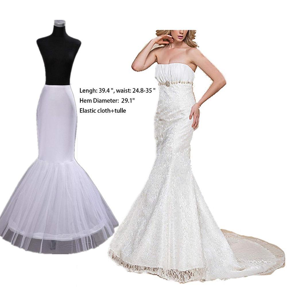 Women/'s Underskirt Trumpet Mermaid Wedding Petticoat Slips for Bridal Party