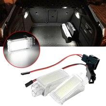2pcs LED Luggage Trunk Lamp Interior Dome Light Super Bright license plate lights for Skoda Octavia Fabia Superb Kodiaq Yeti