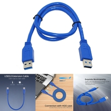 Extension Cable, USB3.0 Male-To-Male Data Cable for Hard Disk, Drive Shell, Laptop