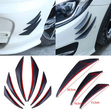 6 Pieces Car Body Front Bumper Lip Splitter Spoiler Kits black/ carbon fiber for  Volkswagen vw Golf 1 2 3 4 5 6 7 mk4 mk5 mk6 m стоимость