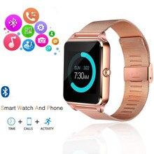 Z60 Smart Watch GT08 Plus Metal Strap Support Camera SIM TF Card Bluetooth Compa