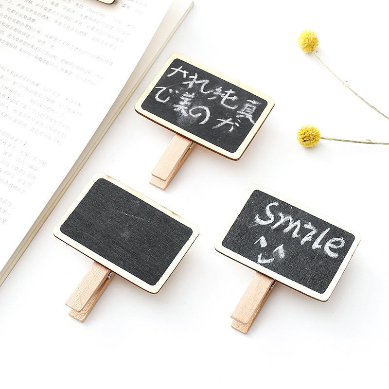 South Korea Creative Stationery Cute Wood Small Blackboard Business Card Holder Strange New Notes Folder For Student Gift Wholes
