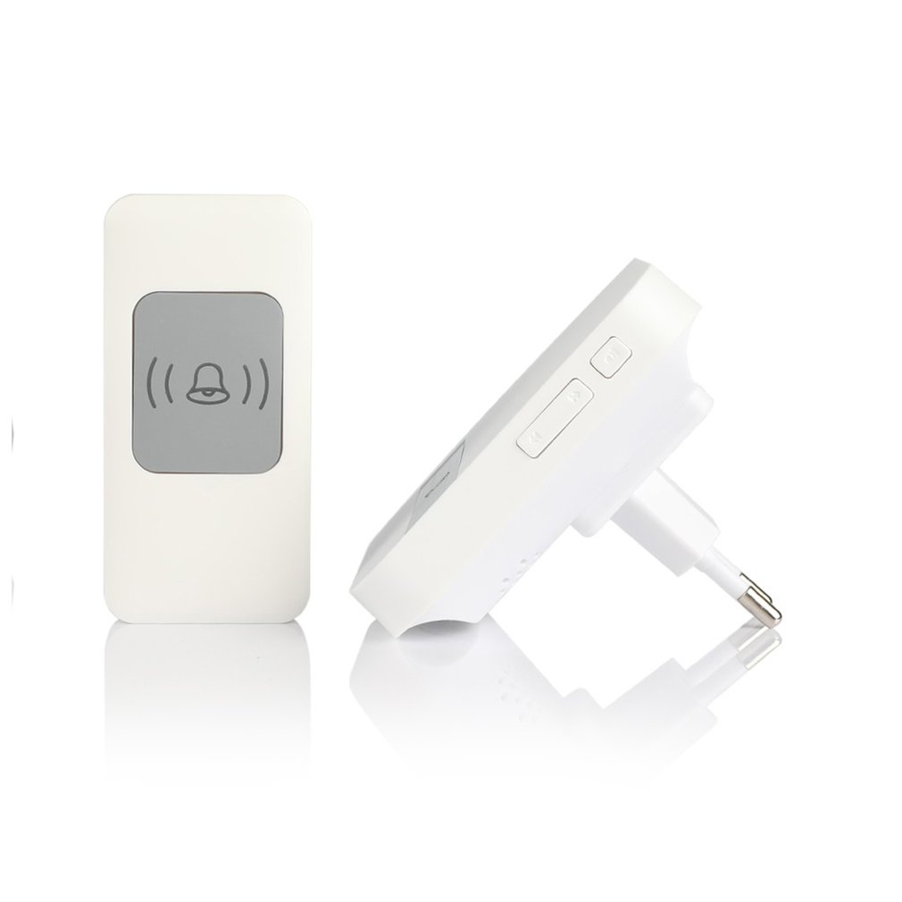 Waterproof LED Wireless Doorbell 300M Long Range 52 Songs Chime Adjustable Volume Door Bell Remote Control Alert System