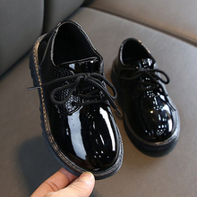 Boys Shoes In Leather White Black Kids Wedding Shoe