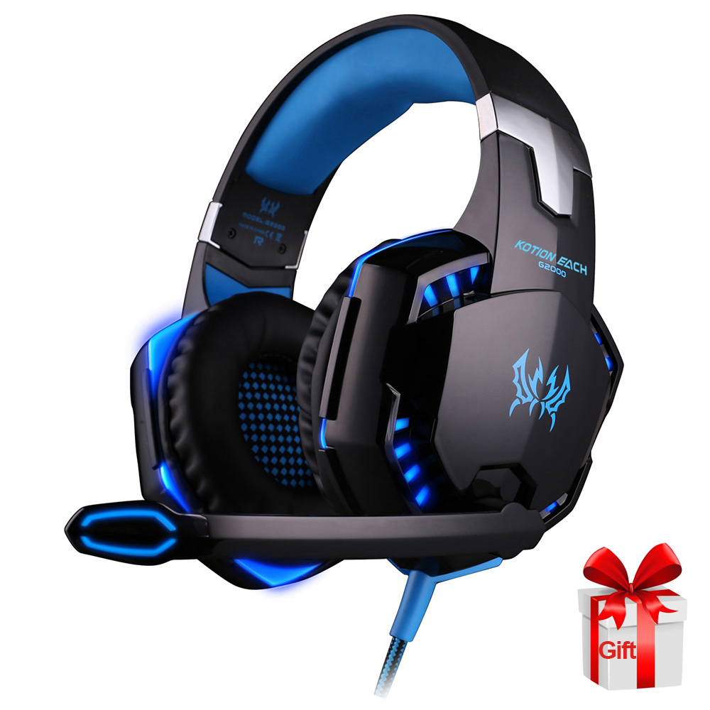 KOTION EACH <font><b>G2000</b></font> Headphones Gaming <font><b>USB</b></font> Wired Headset Stereo Surround with Microphone Bass for Xbox PC PS4 Computer Gamer image