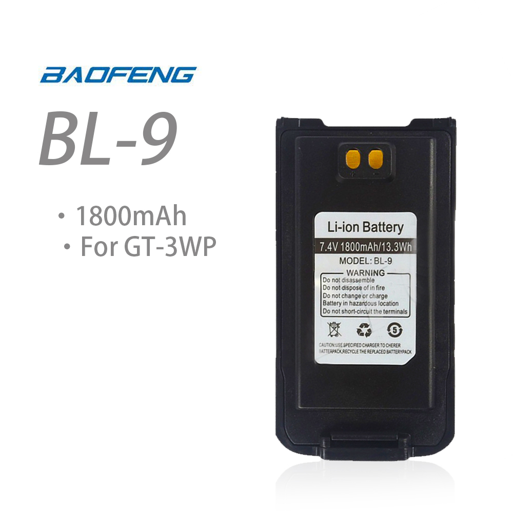 Original Baofeng GT-3WP 7.4V 1800MAH Li-ion Battery For Baofeng GT-3WP Replaceable Batterypack Baofeng Accessories
