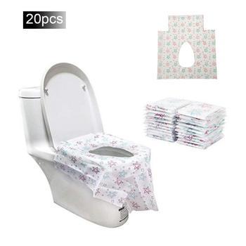 20PCS Disposable Toilet Seat Maternal Child Toilet Seat Toilet Training Seat Cover Waterproof Non-Slip Pregnant Women Toilet Mat 1