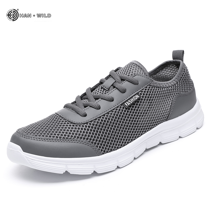Men Casual Sneakers Shoes 2019 Summer Breathable Mesh Shoes Couple Lover Fashion Lace Up Mens Flats Shoe Big Plus Size