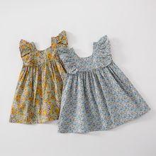 2020 летнее платье для девочек; Платья без рукавов с цветочным