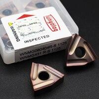 Inserts inserts R S 1125 inserti in metallo duro utensile per tornitura esterna WNMG 080408 utensili per tornio di macchine industriali