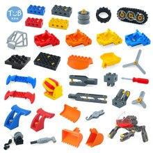 Blocos de construção de partículas grandes diy tecnologia engenharia máquinas montagem acessórios compatíveis duplo ciência brinquedos educativos