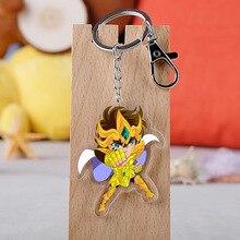 Anime Saint Seiya Myth Cloth Shiryu Shun Hyoga Jabu Acrylic Figure pendant keychain Keyring Collection Model Toy Cosplay