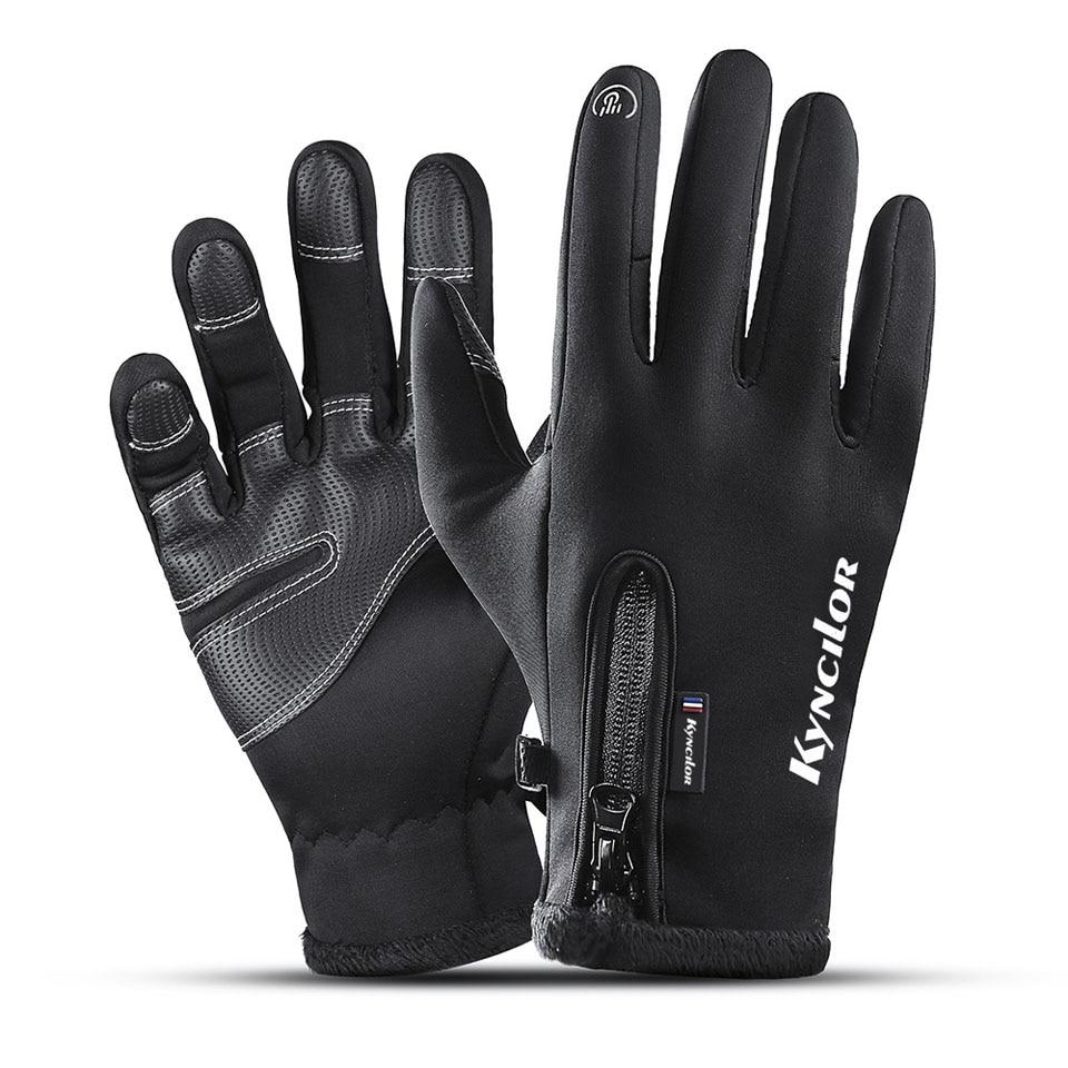 Winter Thermal Ski Gloves Men Women Kids Fleece Touch Screen Snowboard Gloves Outdoor Waterproof Snow Motorcycle Skiing Gloves