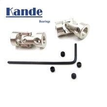 Juntas universais de kande para o modelo do navio eixo mini rolamento de junção d8l18 d9l23 d11l23 d14l35 d16l35 5x5 8x8 5x8 eixo do motor 5mm