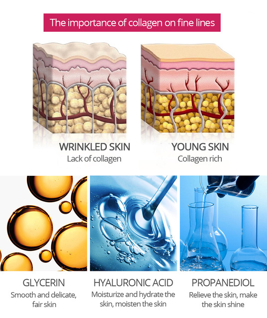 Argireline Collagen Peptides Face Serum Cream Anti-Aging Wrinkle Lift Firming Whitening Moisturizing Skin Care VIBRANT GLAMOUR 5