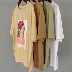 Женская футболка с коротким рукавом Lizkova, 95% хлопок, повседневные топы с круглым вырезом и принтом героев мультфильмов, лето 2020