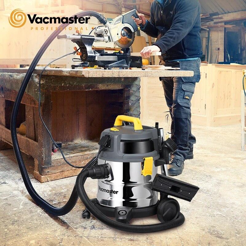 Odkurzacz budowlany Vacmaster, mocny, 1600W, 20L, odkurzacz na sucho i mokro do domu, majsterkowanie, odpylacz cyklonowy
