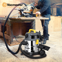 Vacuum-Cleaner Workshop Tank Floor-Carpet HEPA-FILTER Industrial Stainless-Steel Vacmaster