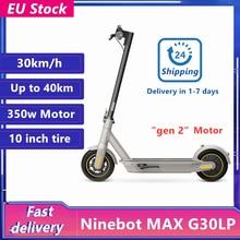 Stock europeo Original KickScooter 30 km/h Ninebot MAX G30LP Scooters eléctricos con Ninebot APP freno doble Patinete Eletrico de 10 pulgadas