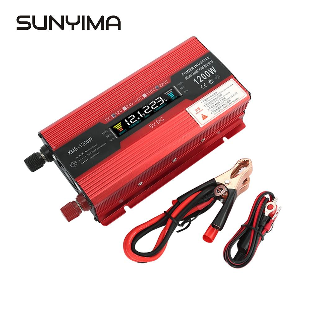 12V 24V Convert 220V Inversor de energ/ía solar modificado 1000W 24V~220V Convertidor de coche
