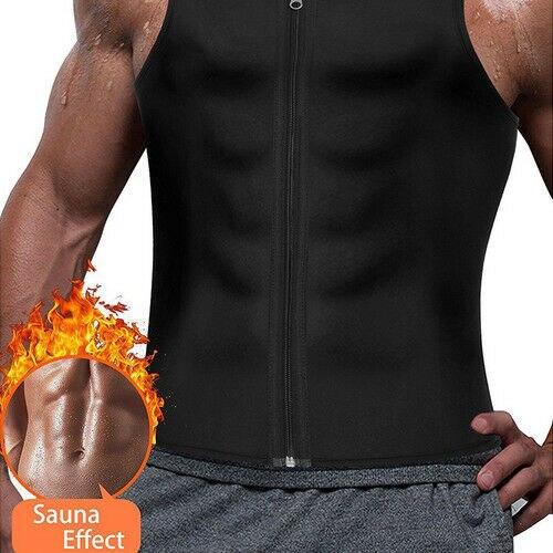 Men's Compression Slimming Best Shapewear T Shirt Vest for Waist Chest Trainer Fat Burner Shapewear Neoprene Vest Sweat Shirt 3