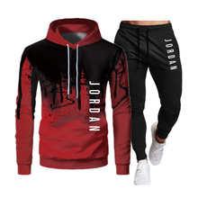 Sportwear Suit Pants Hoodie Sweatshirt Pullover 2pieces-Sets Hombre Casual Men Ropa Size-S-4xl
