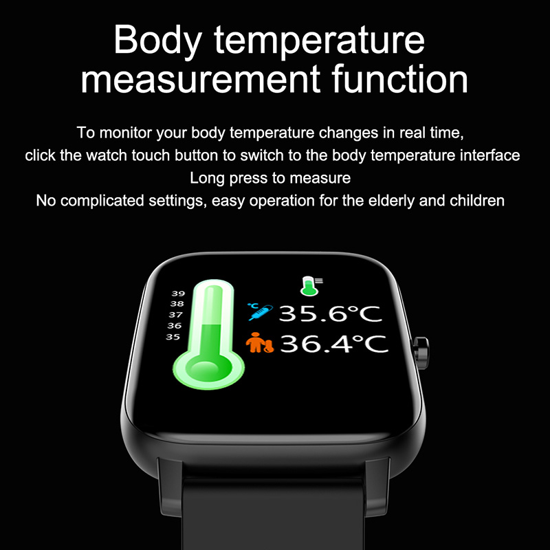 Montre connectée pour hommes et femmes, avec prévisions météorologiques en temps réel, moniteur d'activité physique et de fréquence cardiaque, pour Android et IOS
