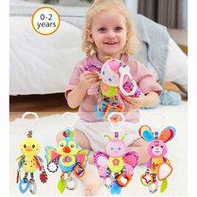 Baby rattle toy stroller hanging soft toy cute animal doll crib crib hanging bell toy adorable baby rattles plush crib stroller infant baby pram striped cute rattle hanging rabbit bear animal toy