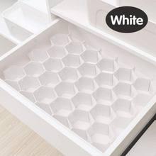 Séparateur de séparation de tiroir réglable en nid d'abeille, boîte de séparation de séparation pour bricolage grille de rangement organisateur de tri de cellules chaussettes