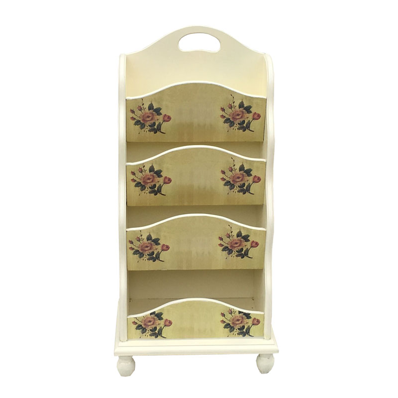 European Rural Newspaper Stand Be Born Four Layers Of Solid Wood Magazine Woodiness Magazine Rack