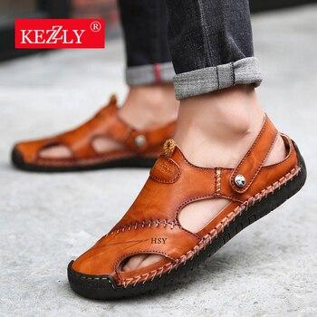 Classic Mens Sandals Genuine Leather  1