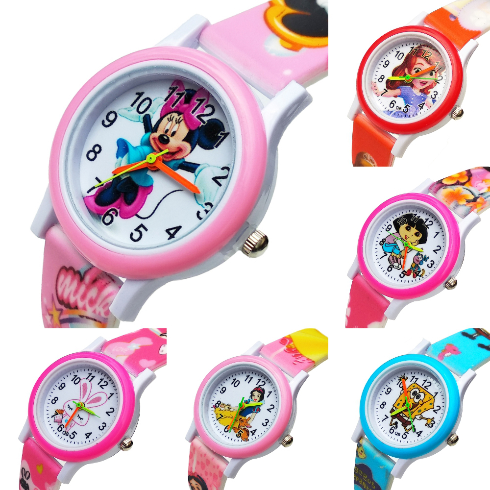 Silicone Children Watch For Boy Girl Student Clock Child Quartz Wristwatches Fashion Cartoon Dog Team Baby Kids Watches Gifts