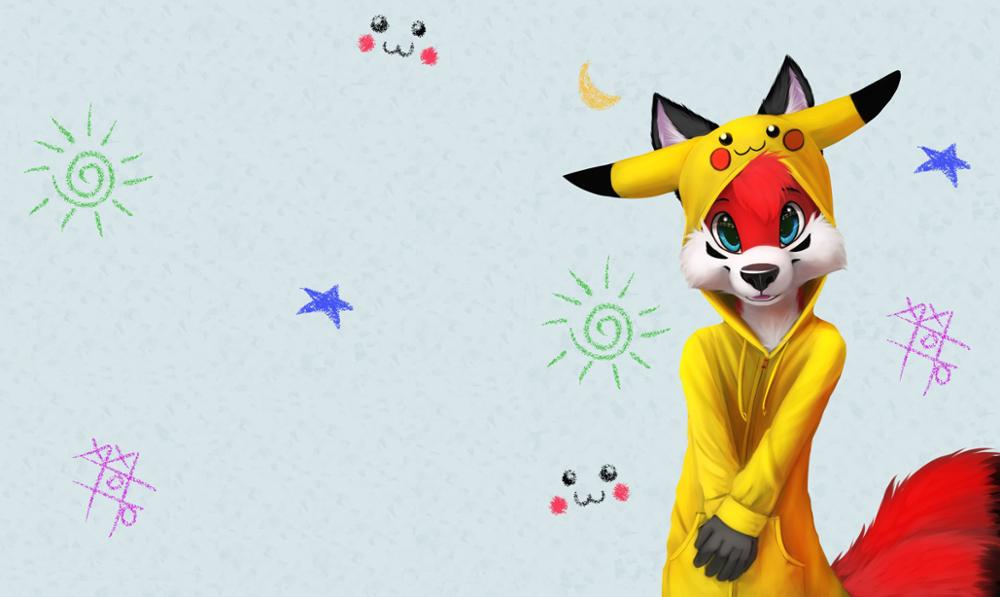 anime art fox suit scops owl pokemon TPP315 fabric poster custom print (frame available) wall art room decoration home decor 1