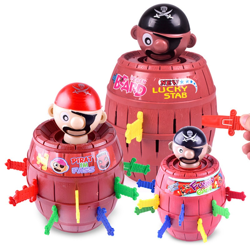 Kids Funny Gadget Pirate Game Barrel Toys For Children Lucky Novelty Stab Pop Up Toy