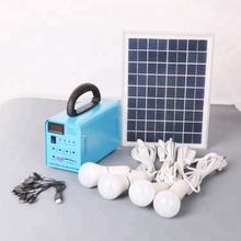 Portable Solar Home Lighting System 20W / Solar Lighting System 20W with 4 LED lamps, phone charger and fan