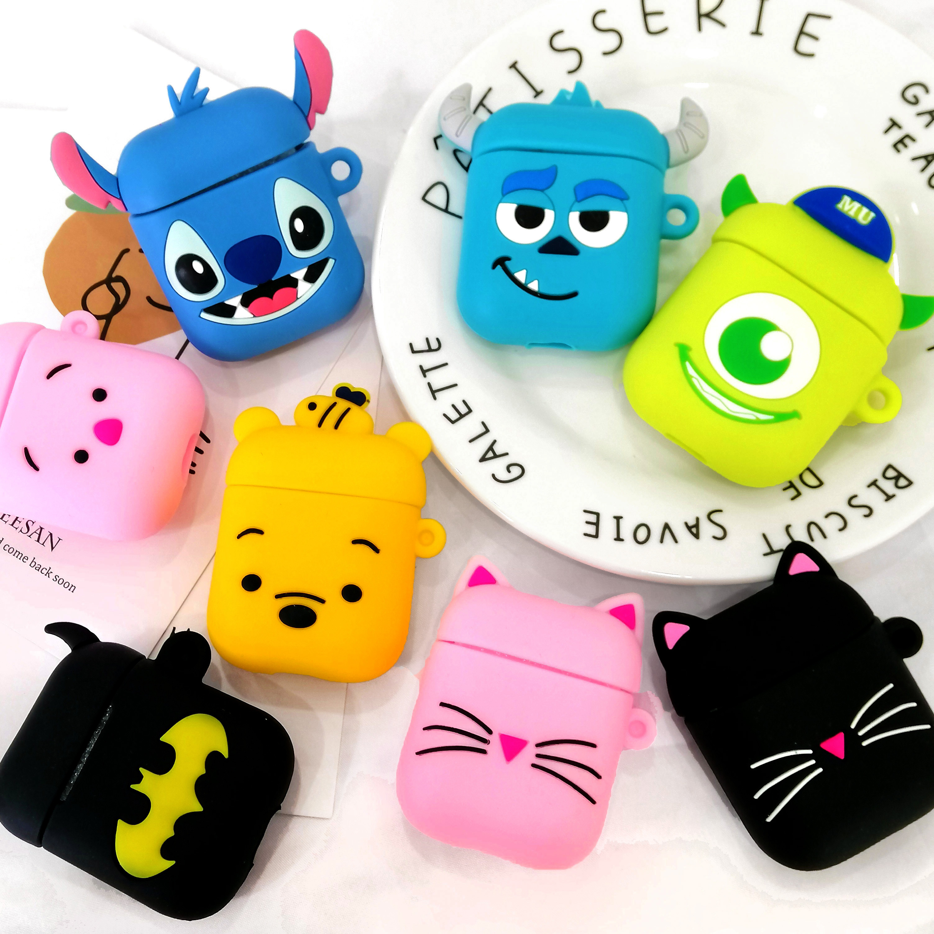 Cartoon For Airpod Wireless Earphone Case For Apple AirPods 2 Silicone Charging Headphones Case For Airpods Protective Cover