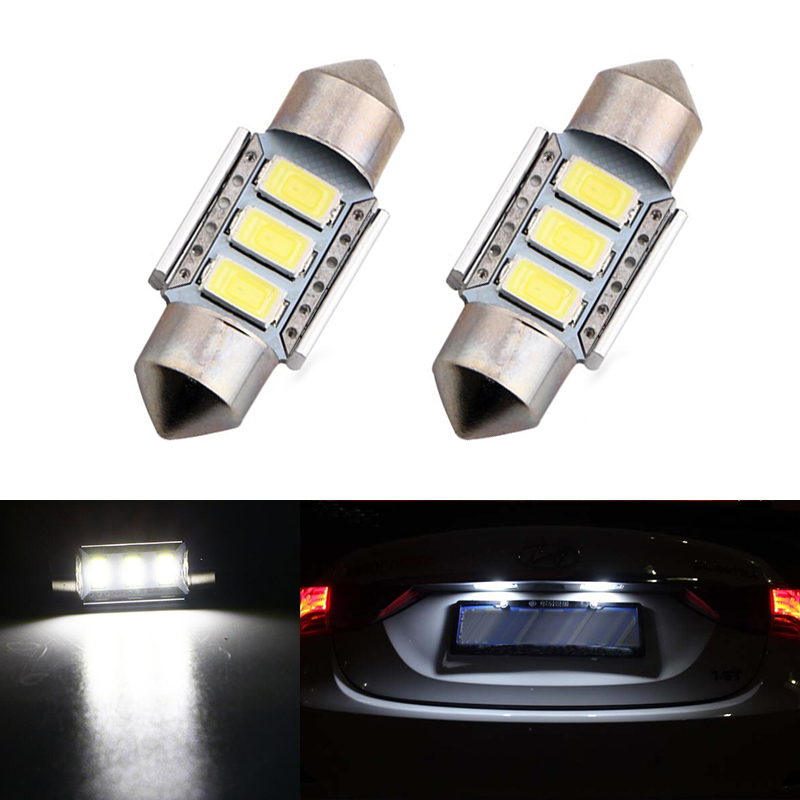2x Car <font><b>Led</b></font> Error Free 36mm C5W 5630 SMD <font><b>Lamp</b></font> 12V License Number Plate Light For <font><b>Renault</b></font> <font><b>Megane</b></font> <font><b>2</b></font> image