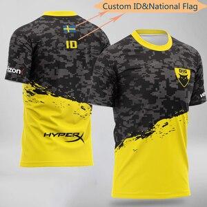CS:GO DOTA Team Dignita DIG Униформа игрок Джерси футболка игра Футболка Индивидуальные ID Имя Мужчины Женщины тенниска фанаты футболка