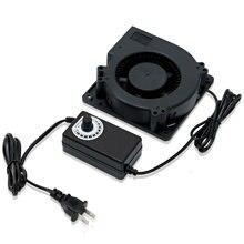 Ventilador de refrigeração centrífugo do rolamento de esferas com controlador da velocidade da c.a. 120 v 120 v 120 v ventilador 12v de alta velocidade cfm 12cm 12032x100x32mm 220