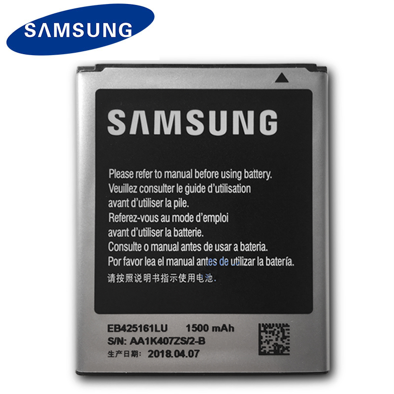 Samsung Original Battery EB425161LU For Galaxy S Duos S7562 S7566 S7568 I8160 S7582 S7560 S7580 I8190 I739 I669 J1 Mini 1500mAh