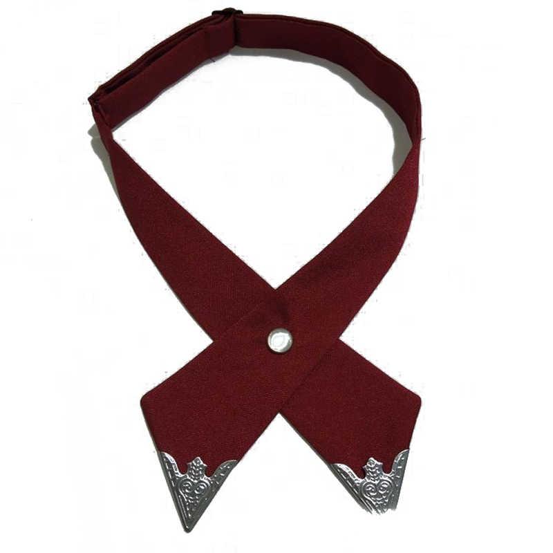 ผู้หญิง CROSS Bow TIES สีทึบธุรกิจ Casual CROSS Tie อย่างเป็นทางการงานแต่งงานผ้าคอ CROSS Bowtie อุปกรณ์เสริม