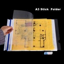 A3 Drawing Folder A3 Test Paper File Folder Colorful Slid Bar Folder Clear Cover Folder(10PCS)