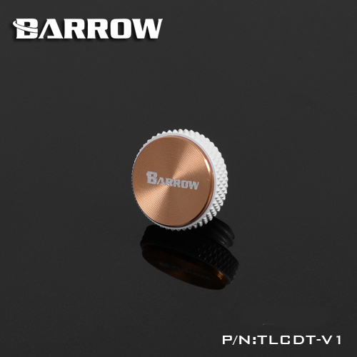 Barrow G1 / 4 '' White Black Silver Multicolor CD Pattern Composite Water Cooling Blank Nozzle Plug TLCDT-V1