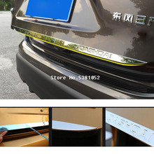 Car Sticker For Nissan Qashqai j11 2018 2019 Stainless Steel Car Tailgate Boot Trunk Rear Door Strip Trim Car Accessories new stainless steel door stickers car body trim for nissan qashqai j11 car styling accessories 2018