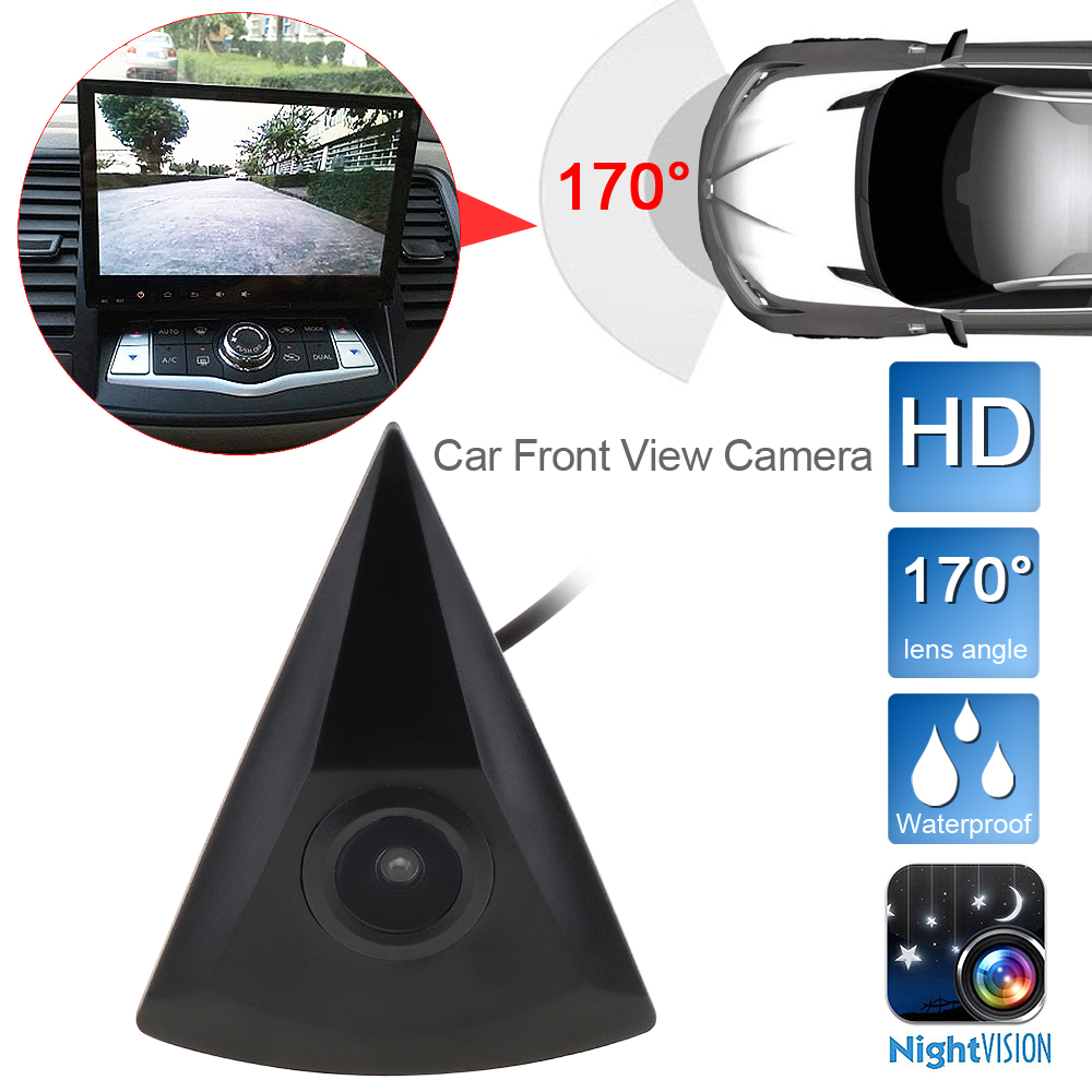 Car Front View Camera Fit For VW/Volkswagen/GOLF/Jetta/Passat/Polo/Tiguan Waterproof 170 Wide Degree Logo Embedded