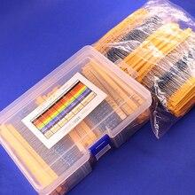 2600 pezzi 130 valori 1/4W 0.25W 1% resistori a pellicola metallica Kit confezione assortita Set lotto resistori Kit assortimento condensatori fissi